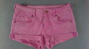 H&M Jeansshorts, blassem Pink Größe 38