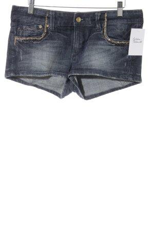 H&M Spijkershort donkerblauw casual uitstraling