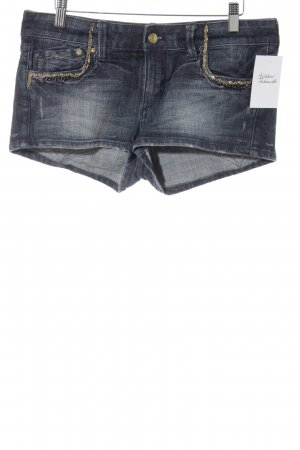 H&M Denim Shorts dark blue casual look