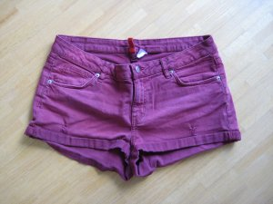 H&M Jeansshorts dunkelrot