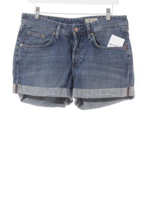 H&M Jeansshorts graublau Washed-Optik