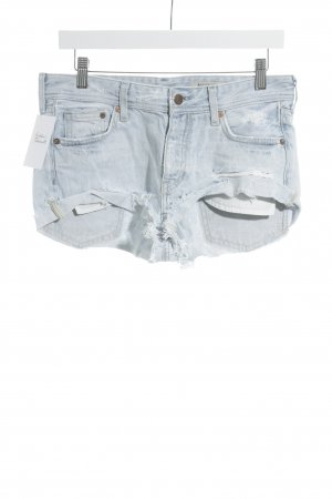 H&M Jeansshorts hellblau Used-Optik