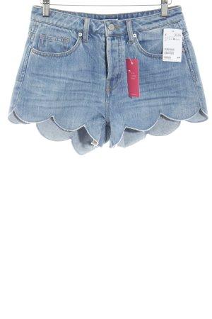 H&M Jeansshorts kornblumenblau Boho-Look