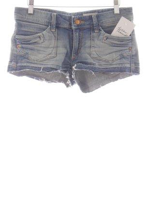 H&M Jeansshorts kornblumenblau-himmelblau Jeans-Optik
