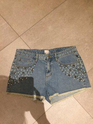 H&M Jeansshorts mit Perlen