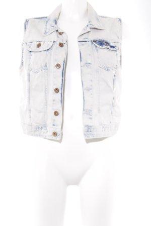 H&M Jeansweste hellblau Washed-Optik