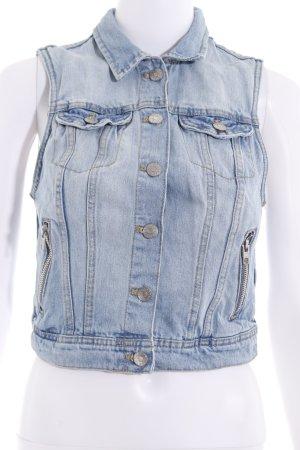 H&M Gilet en jean bleu azur style décontracté
