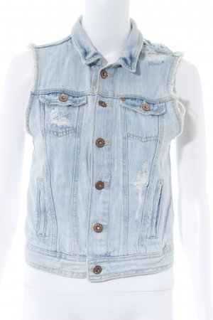 H&M Denim Vest azure distressed style