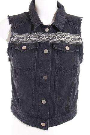 H&M Gilet en jean Motif de tissage style décontracté