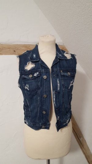 H&M Jeansweste Weste Used Look Denim Größe 36