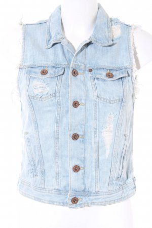 H&M Denim Vest natural white-azure second hand look