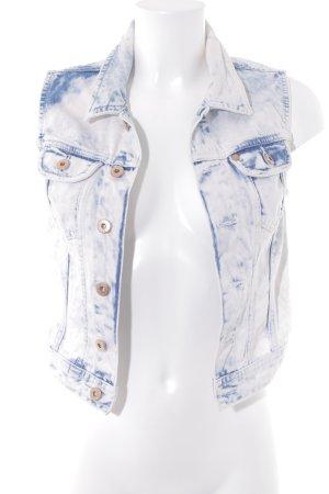 H&M Gilet en jean blanc cassé-bleu acier style décontracté