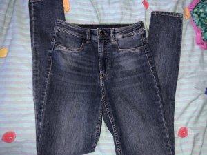 H&M Jeans a vita alta blu