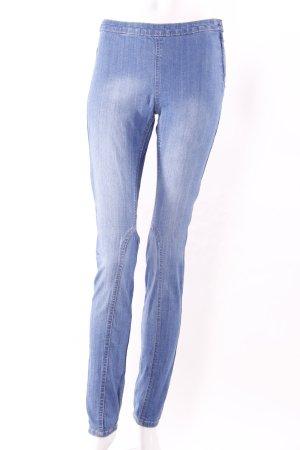 H&M Jeggings Used-Look blau