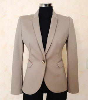 H&M Jersey Blazer Beige Stretch Tailliert 36 Business Casual