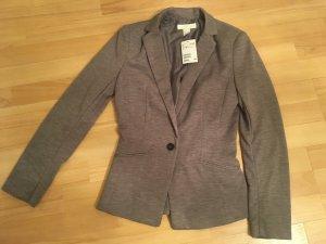 H&M Jersey Blazer Jacke Jacket grau braun in XS / 34  NEU