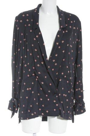 H&M Jerseyblazer dunkelblau-apricot minimalistischer Stil