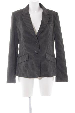 H&M Jerseyblazer dunkelgrau-wollweiß Streifenmuster Business-Look