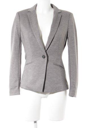 H&M Jersey blazer grijs-donkergrijs gestippeld zakelijke stijl