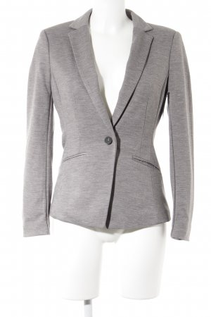 H&M Jerseyblazer grau-dunkelgrau meliert Business-Look