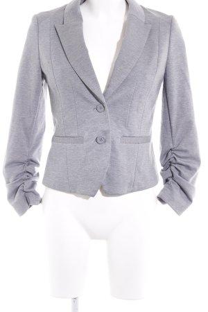 H&M Jerseyblazer grau-hellgrau meliert Casual-Look