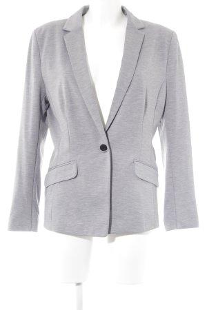 H&M Jersey blazer grijs-lichtgrijs gestippeld casual uitstraling
