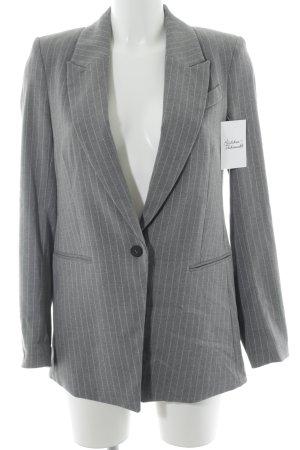 H&M Jerseyblazer grau Streifenmuster Business-Look