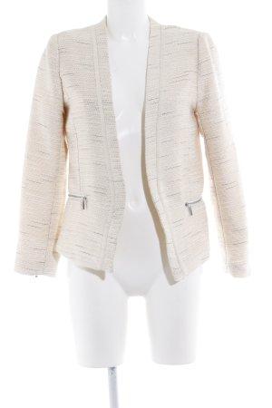 H&M Jersey Blazer beige claro brillante