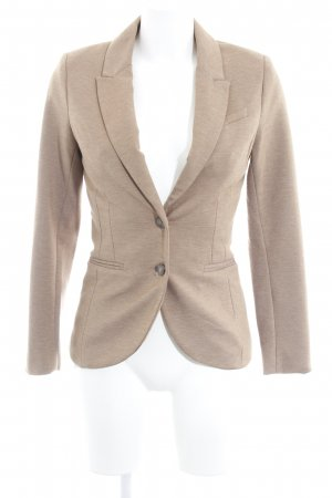H&M Jersey blazer lichtbruin Webpatroon casual uitstraling