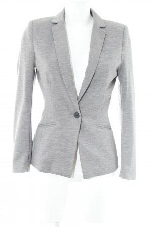 H&M Jerseyblazer hellgrau-grau Business-Look