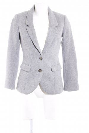 H&M Jerseyblazer hellgrau-grau meliert Casual-Look