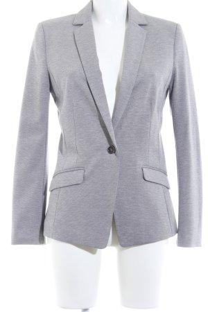 H&M Jerseyblazer hellgrau-schwarz meliert Casual-Look