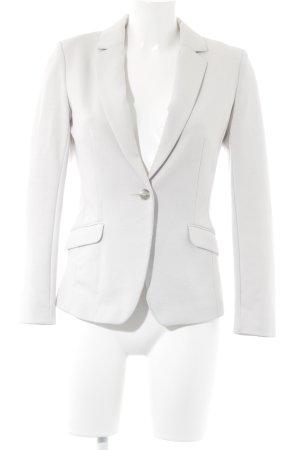 H&M Jerseyblazer hellgrau-weiß Business-Look