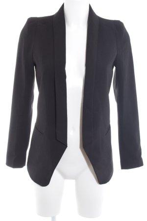H&M Jersey blazer zwart zakelijke stijl