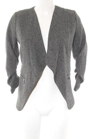H&M Jerseyblazer schwarz-grau Hahnentrittmuster klassischer Stil