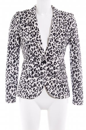 H&M Jerseyblazer schwarz-weiß Animalmuster Animal-Look