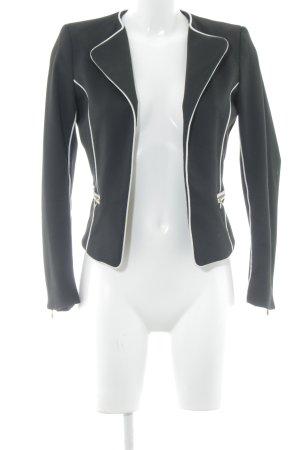 H&M Jerseyblazer schwarz-weiß Elegant