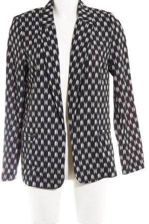 H&M Jerseyblazer schwarz-weiß Farbtupfermuster Business-Look