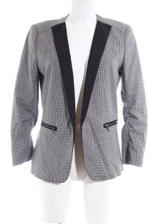 H&M Jerseyblazer schwarz-weiß Hahnentrittmuster Business-Look