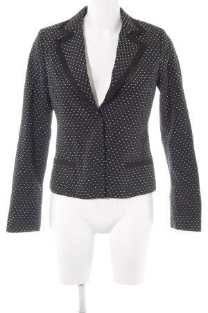 H&M Jersey blazer zwart-wit gestippeld patroon casual uitstraling