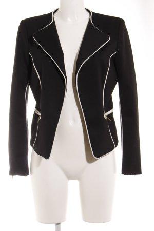 H&M Jerseyblazer schwarz-wollweiß Business-Look