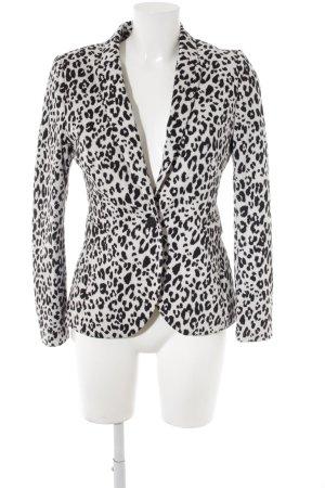 H&M Jersey blazer wit-zwart volledige print casual uitstraling