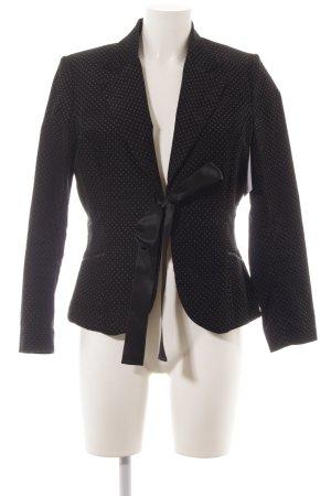 H&M Jerseyblazer weiß-schwarz Punktemuster Casual-Look