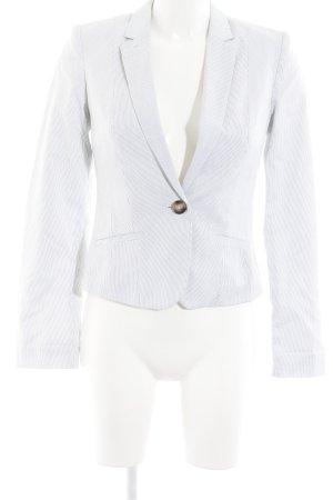 H&M Jerseyblazer wollweiß-schwarz Streifenmuster Business-Look