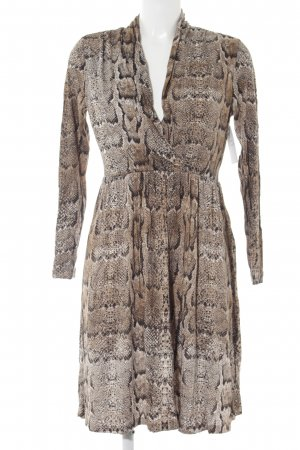 H&M Jerseykleid Animalmuster Business-Look