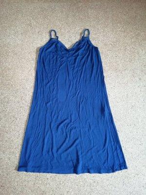 H&M Jerseykleid mit Spitze dunkelblau M