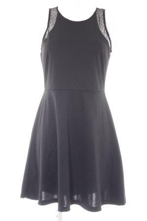 H&M Jerseykleid schwarz Elegant