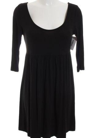 H&M Jerseykleid schwarz klassischer Stil