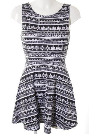 H&M Abito jersey nero-bianco stile casual