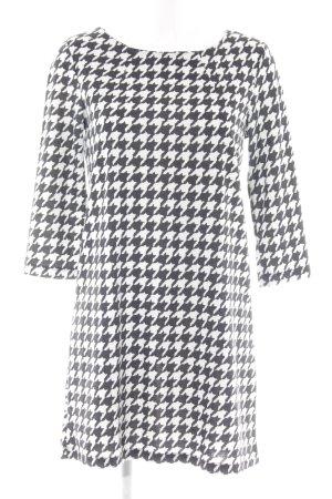 H&M Jerseykleid schwarz-weiß Hahnentrittmuster Business-Look